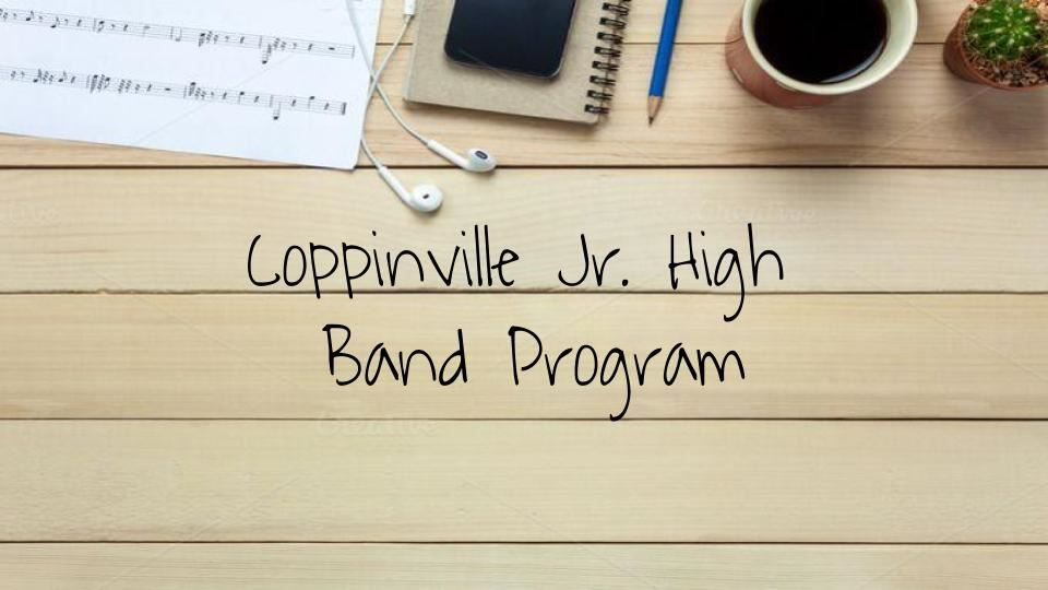 Coppinville Jr. High Band Program