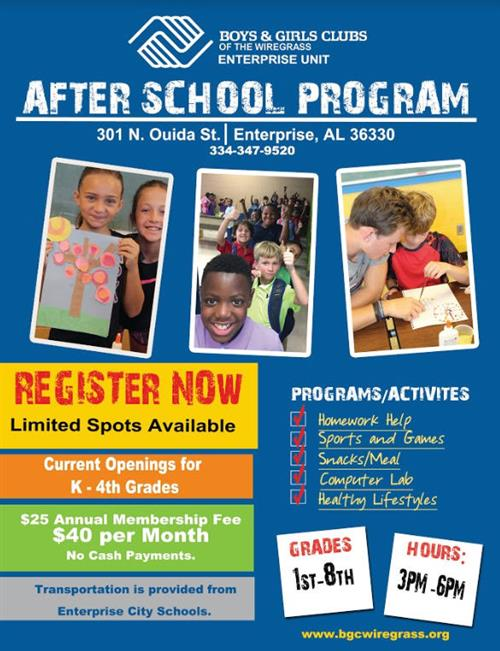 Boys and Girls Club Flyer