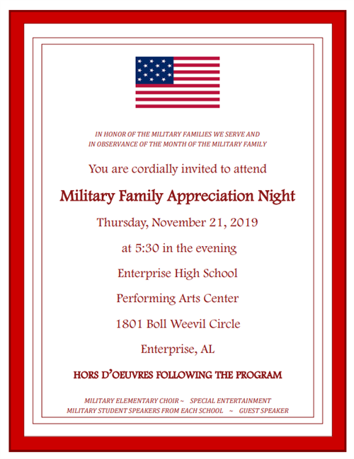 Military Family Appreciation Night