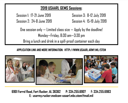USAARL Summer GEMS Program