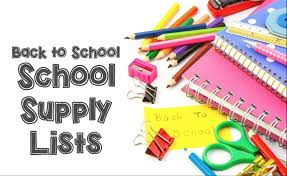 ECS Back to School Supply Lists