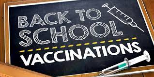 Back to school vaccines for grades 6-7
