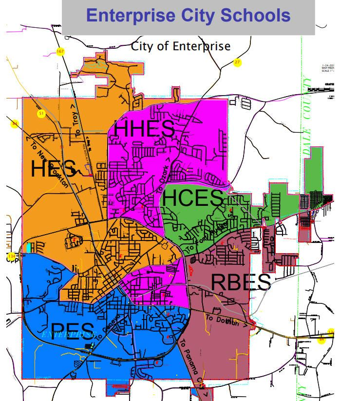 ECS Zoning Maps and Tuition Schedule