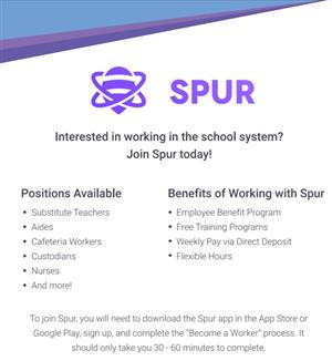 Spur Flyer on dowloading Spur App